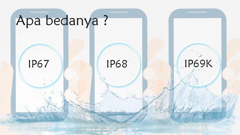 Perbedaan IP67 IP68 IP69K pada smartphone