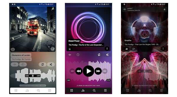 Poweramp Music Player aplikasi pemutar musik untuk android