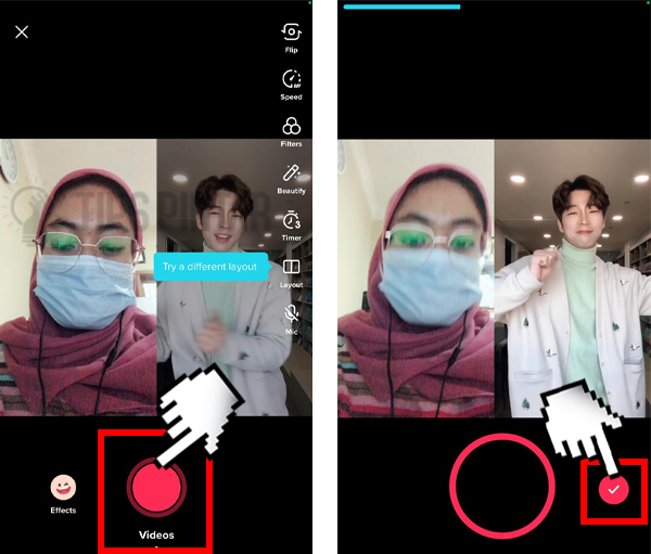 Cara Menggabungkan Video di TikTok biar bisa Duet Bareng Idola atu Bikin Video Kolaborasi yang Lucu Abis