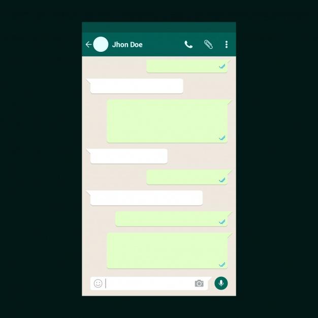 cara membuat pesan kosong di Whatsapp